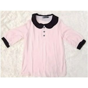 Tops - 🍍Women's see through pink blouse XS